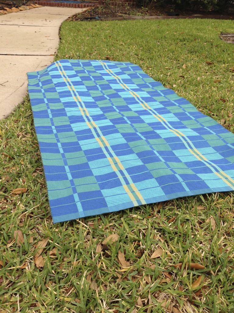 handwoven warp rep rug