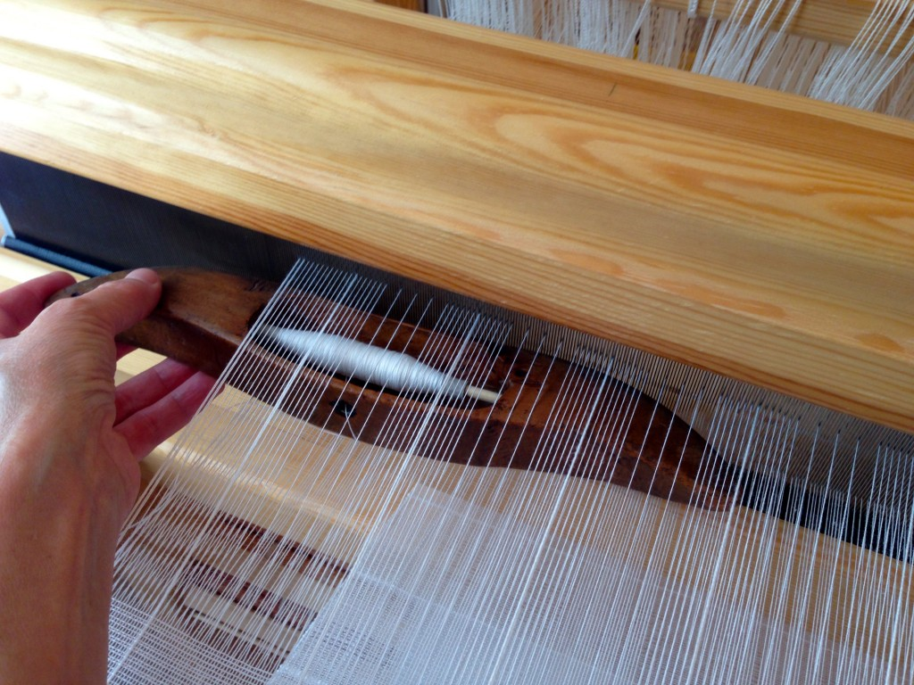 Handwoven Swedish Lace on the loom