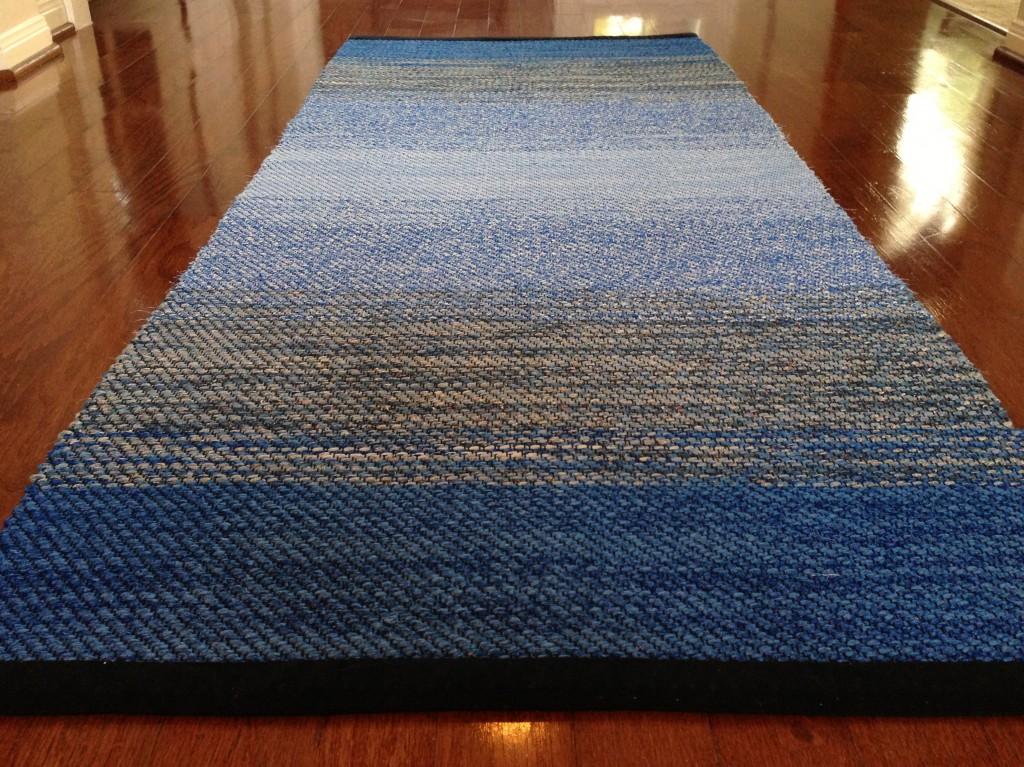 Blue Twill Rag Rug