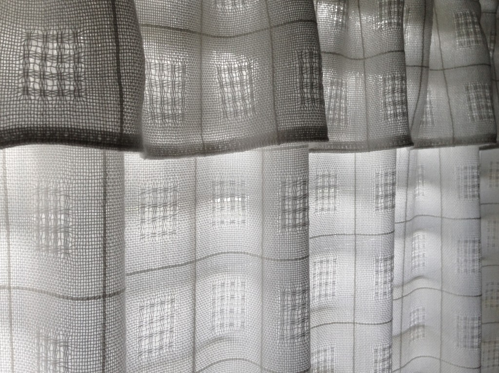 Handwoven Swedish Lace curtains by Karen Isenhower