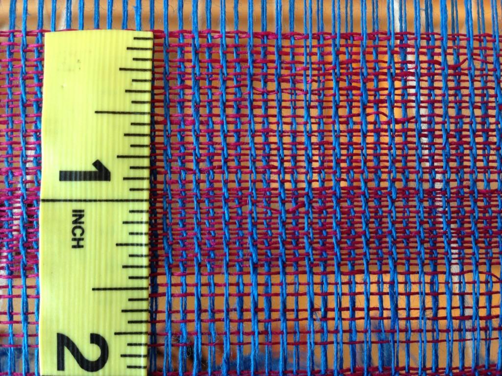 Measuring picks per inch.