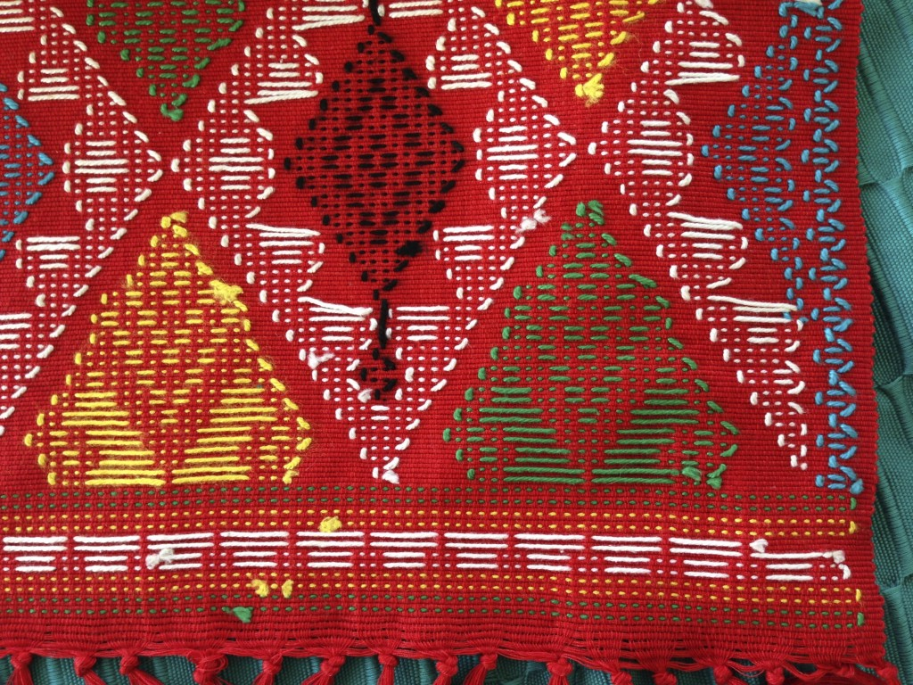Reverse side of colorful cloth from Manila.