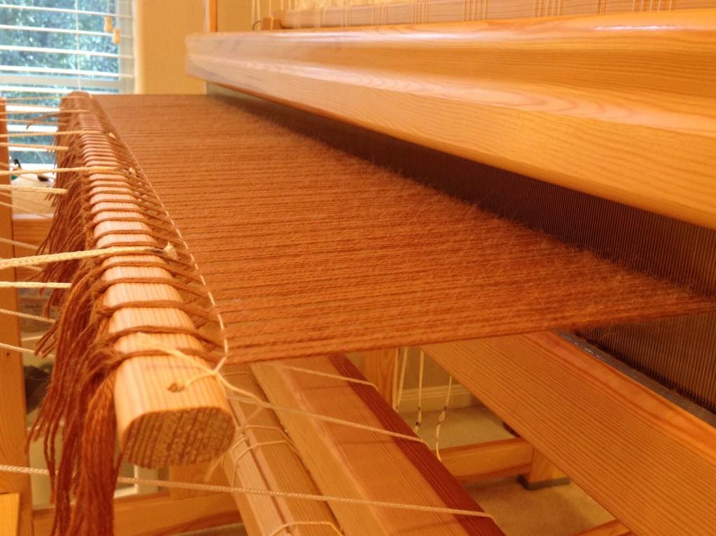 Alpaca/Tencel warp tied-on, with leveling string, full width of 120cm Glimåkra Standard.