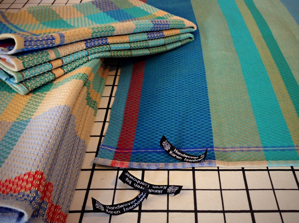 Finishing touch for handwoven towels.