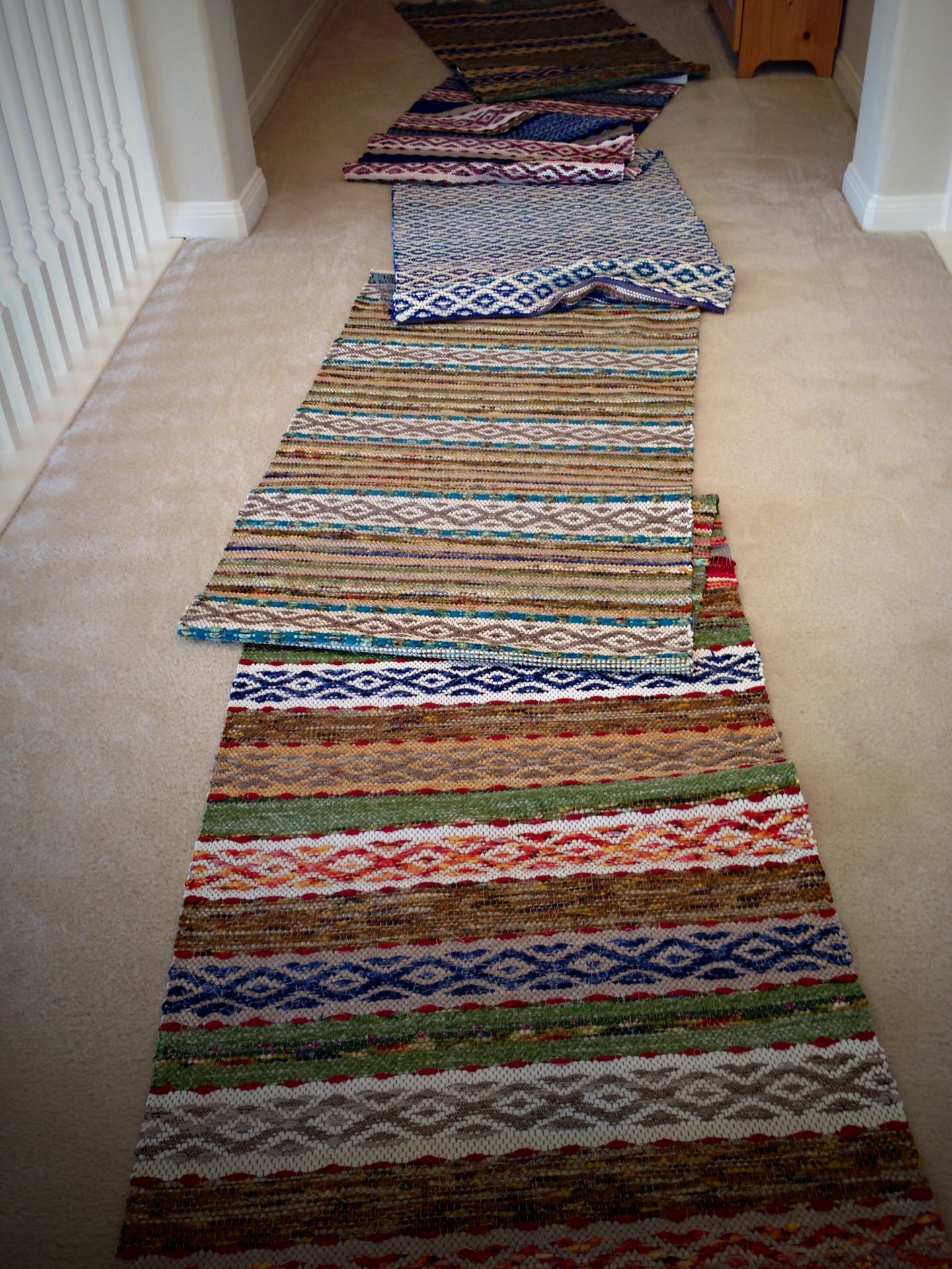 Quiet Friday Five Rosepath Rag Rugs Warped For Good