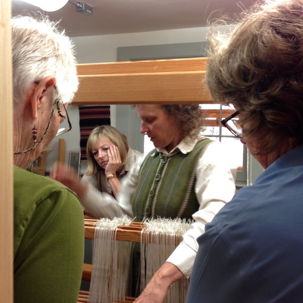 Becky Ashenden Demonstrating at the Loom