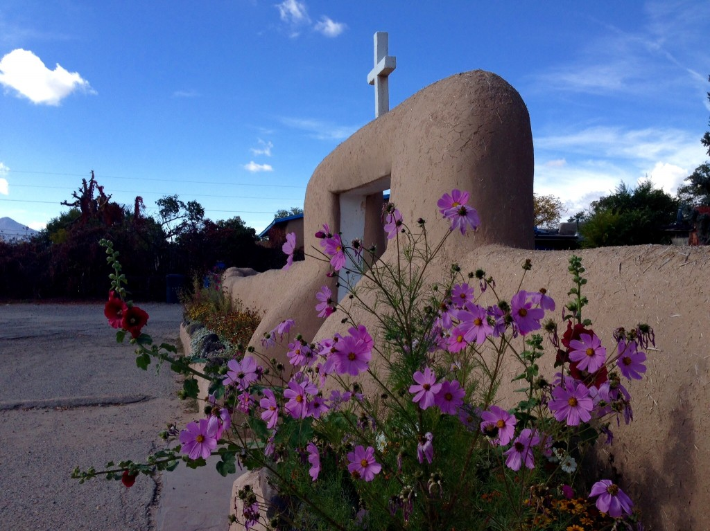 San Francisco de Asis, serene historic chapel in Ranchos de Toas, New Mexico