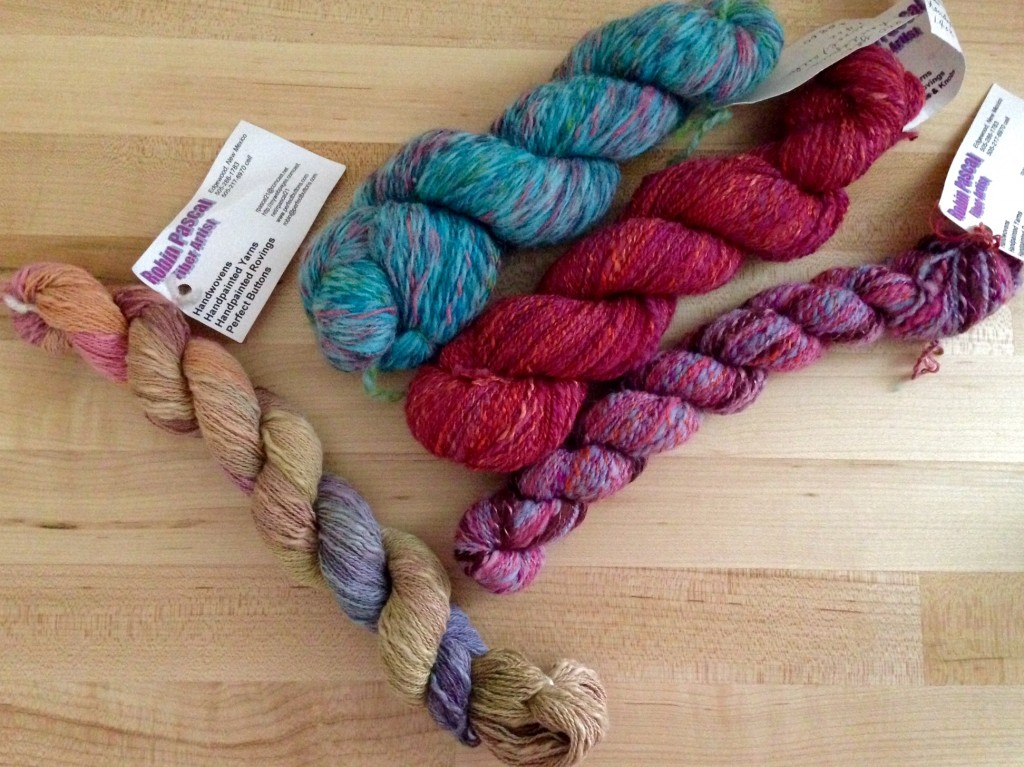 Handspun and hand painted yarn by Robin Pascal.