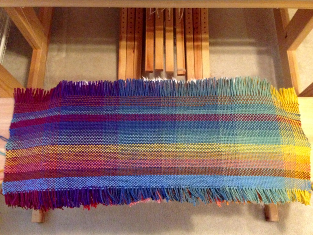 One side of the double weave sample.