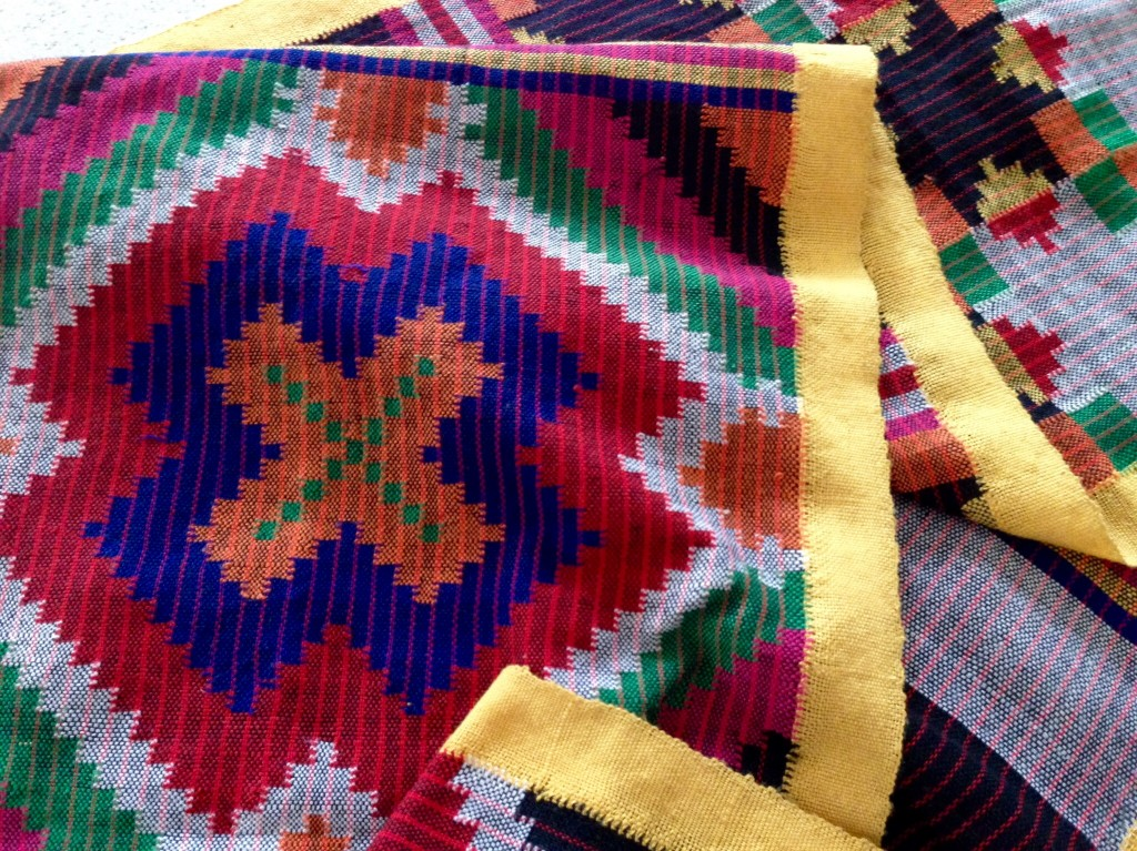 Detail of backstrap weaving from Mindanao, Philippines.