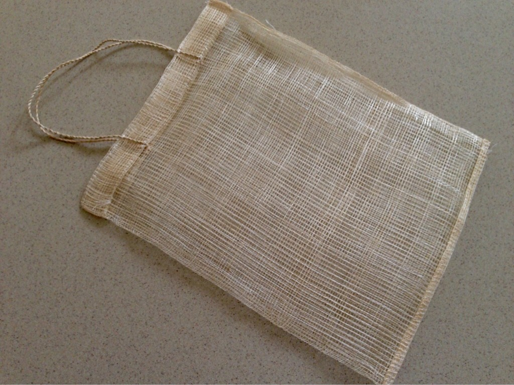 Filipino bag woven from piña fibre.