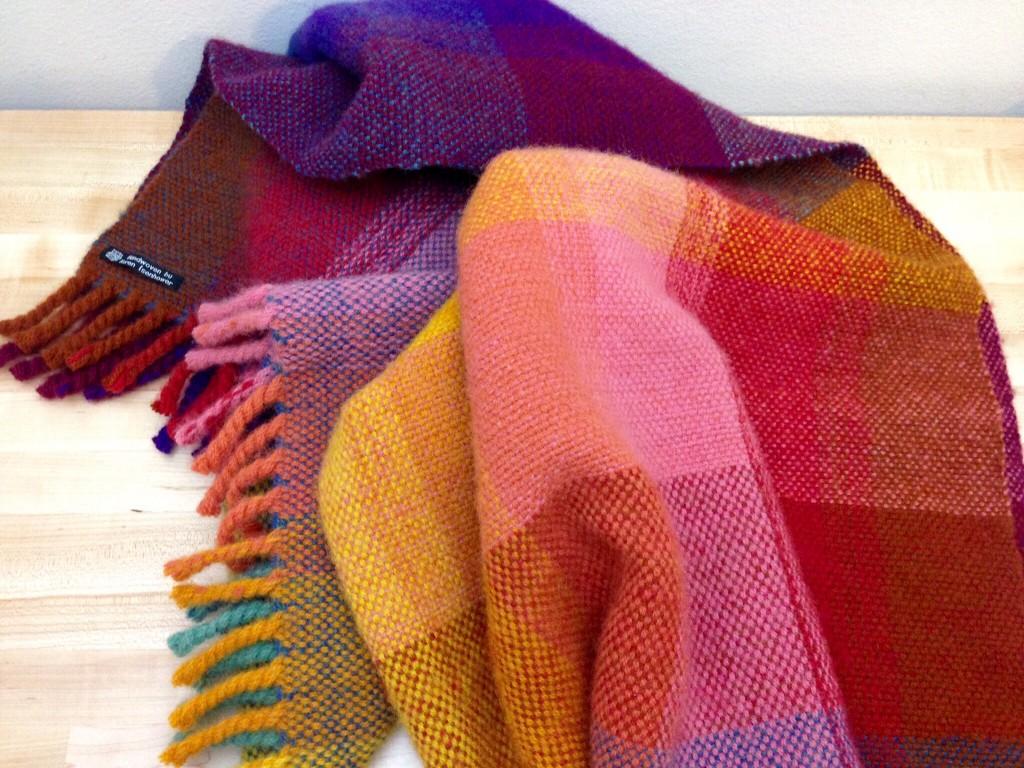 Finished wool double-width blanket. Karen Isenhower