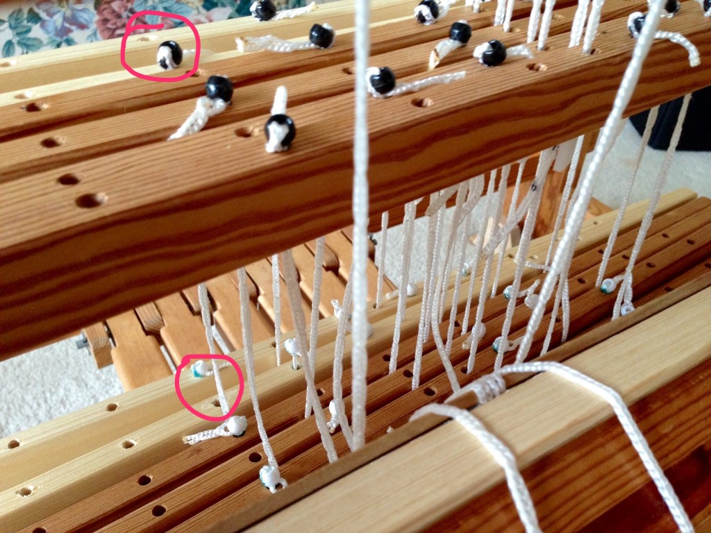 Changing treadle tie-up to make six treadles into seven.