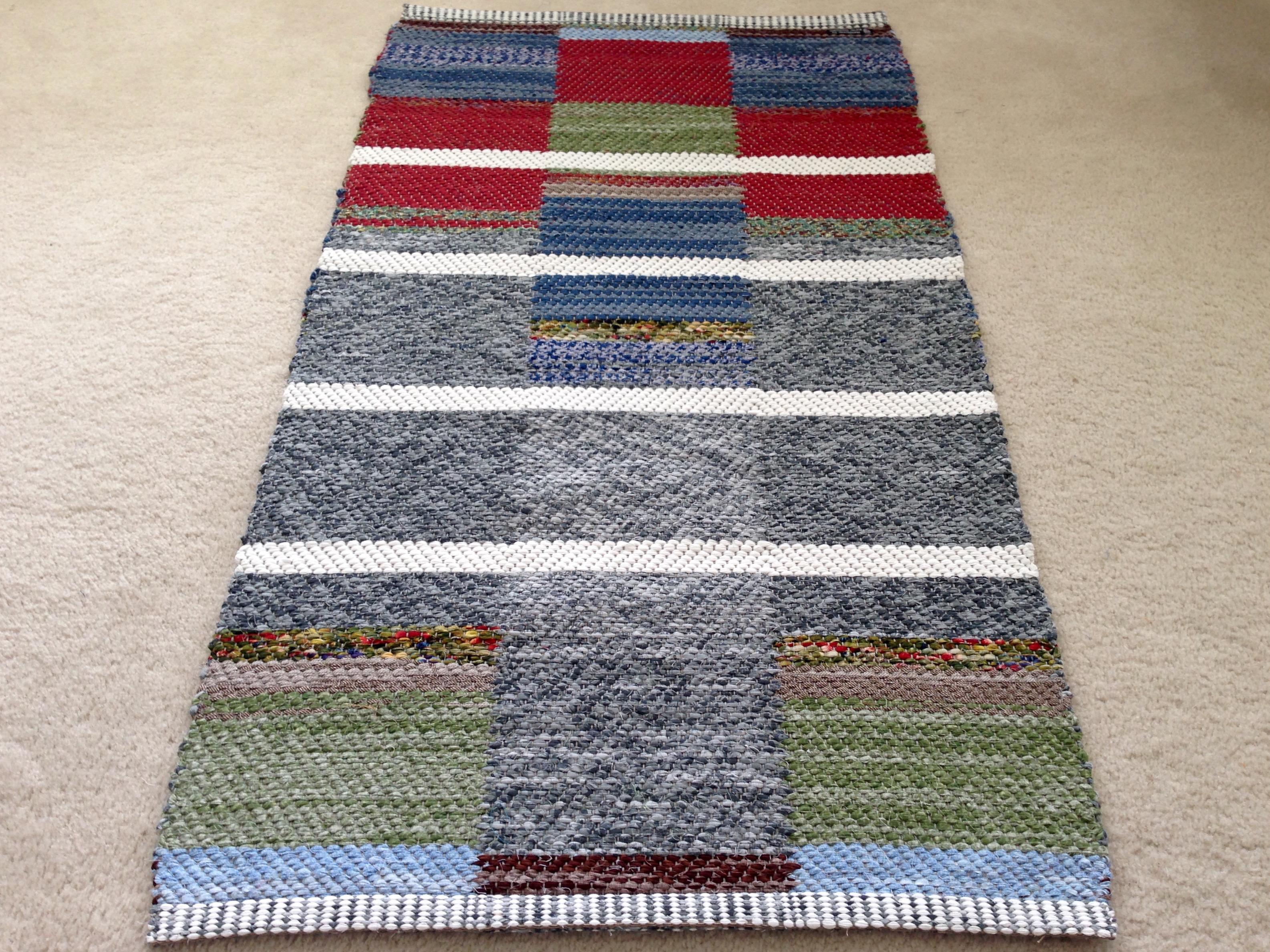 double binding twill rag rug
