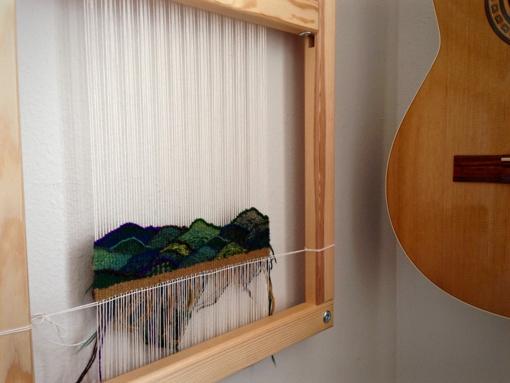 Tapestry diary on frame loom.