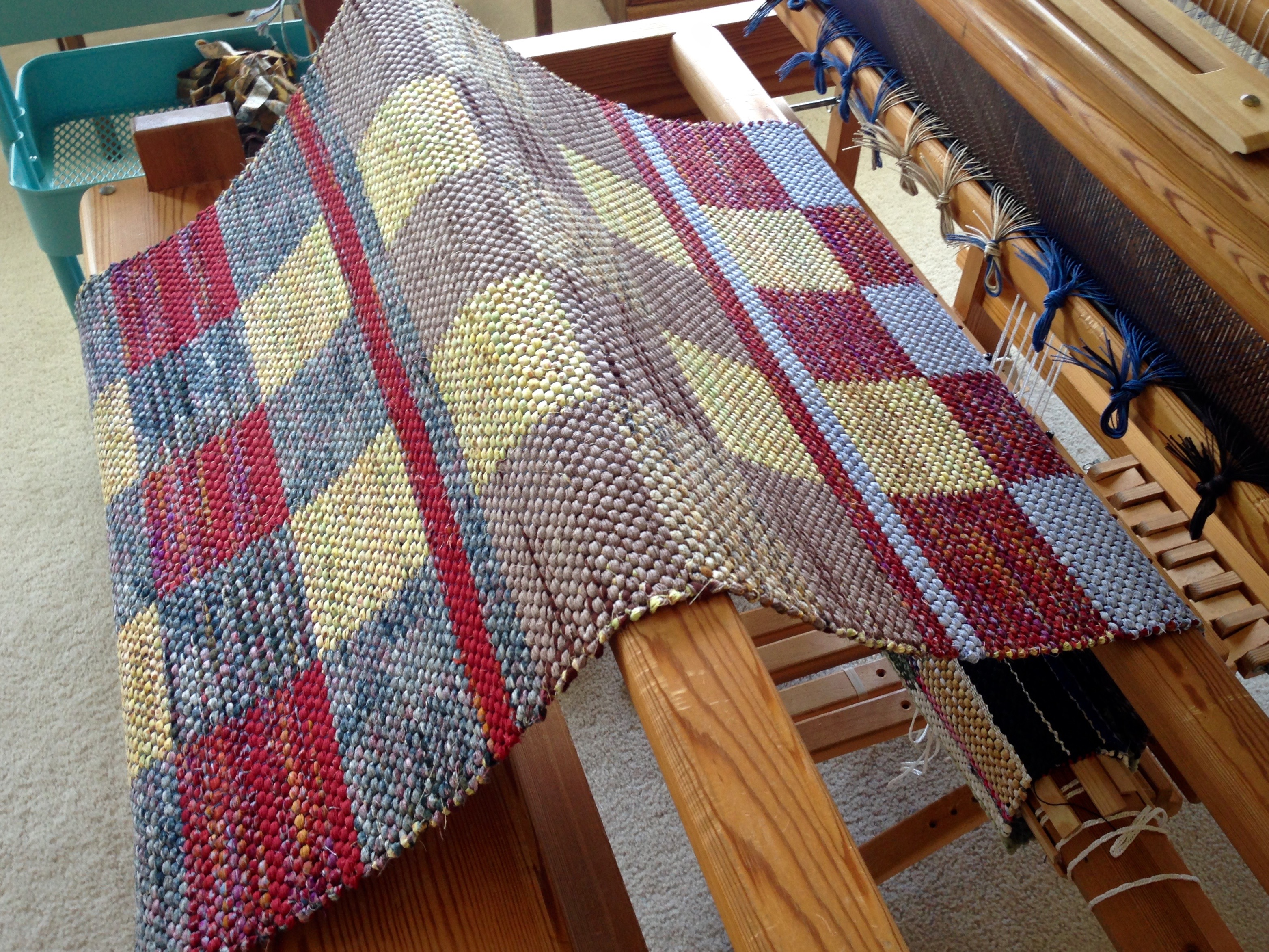 When A New Rag Rug Is Unrolled Warped For Good