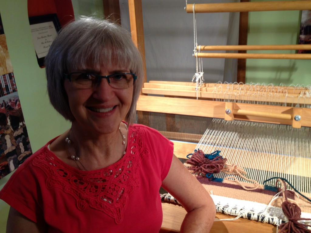 Rio Grande walking loom at Weaving Southwest.