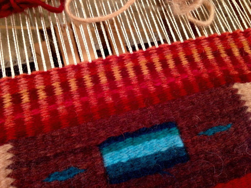 Tapestry class at Weaving Southwest.