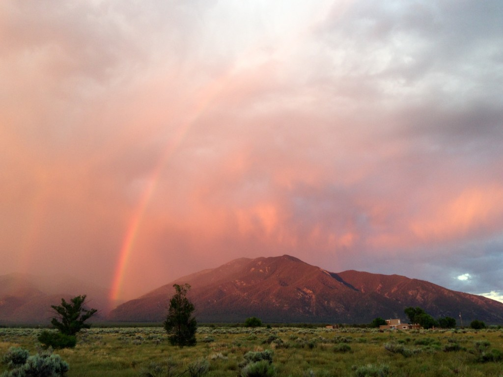 Spectacular rainbow near Arroyo Seco, New Mexico.