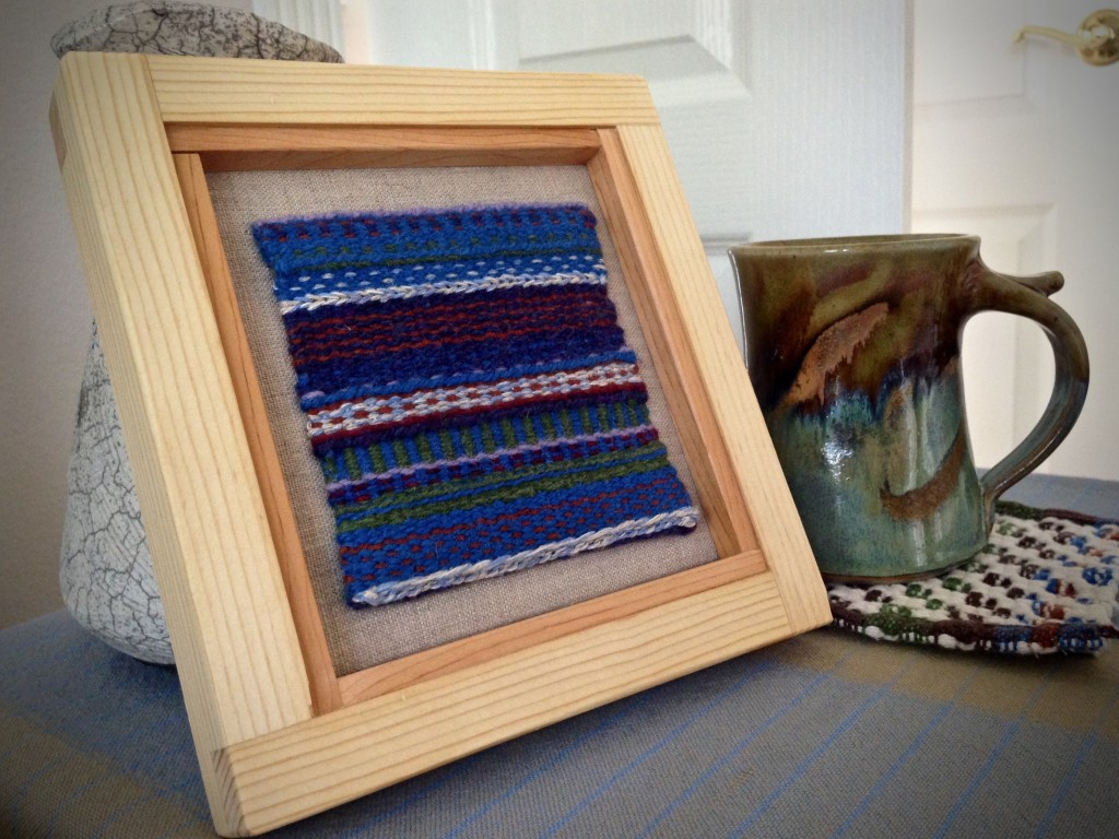 Small tapestry, mounted on linen, with frame made to fit. Karen Isenhower