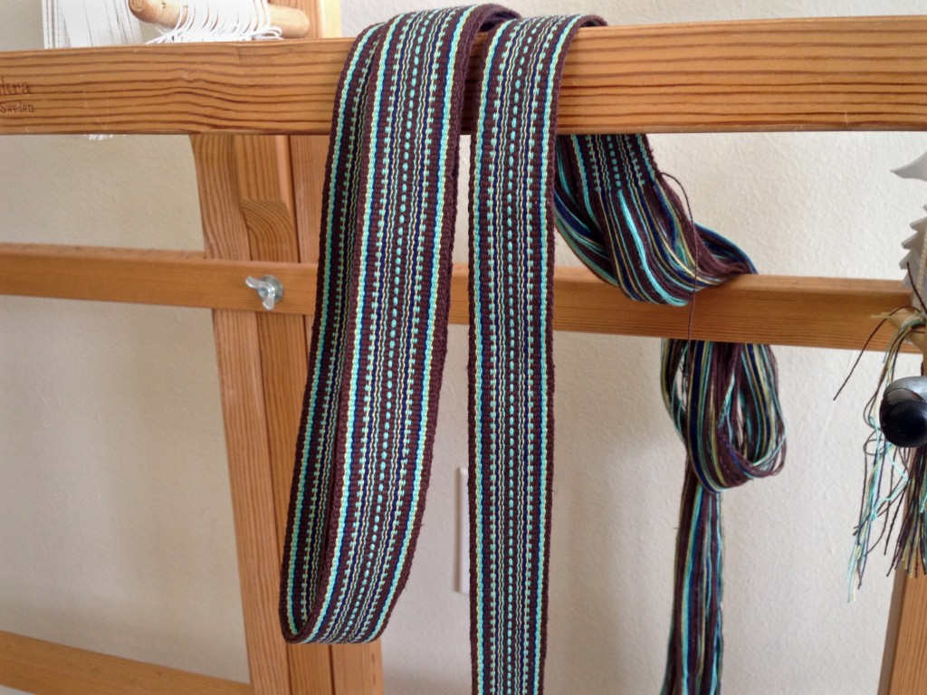 Bag handle woven on band loom. Karen Isenhower