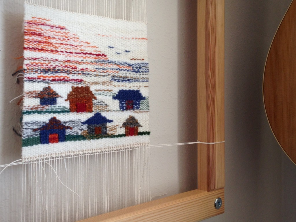 Sun Rising. Small tapestry project on Freja loom.