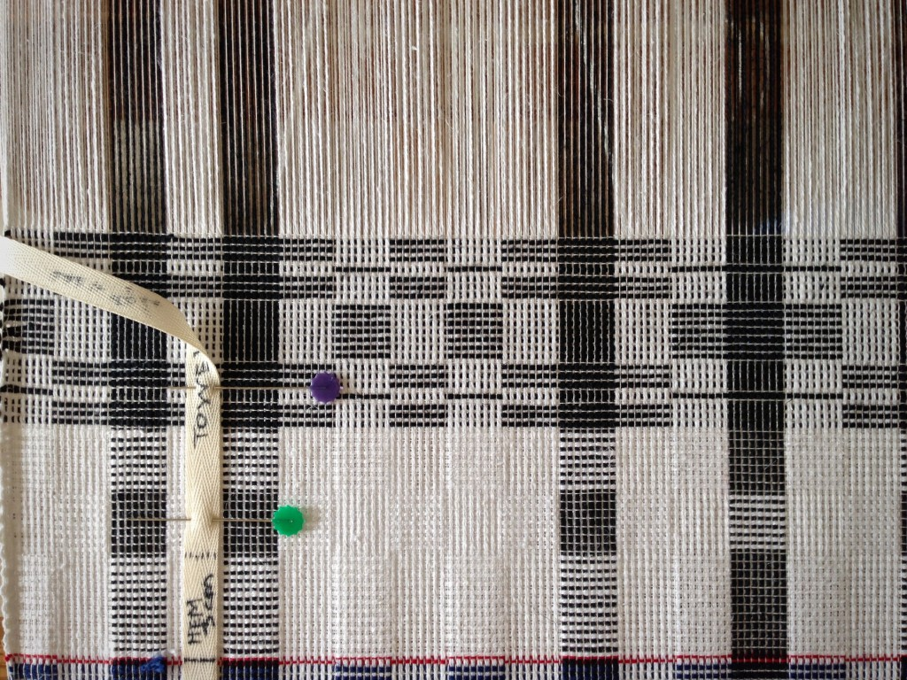 Border pattern for cottoln towel on the loom.