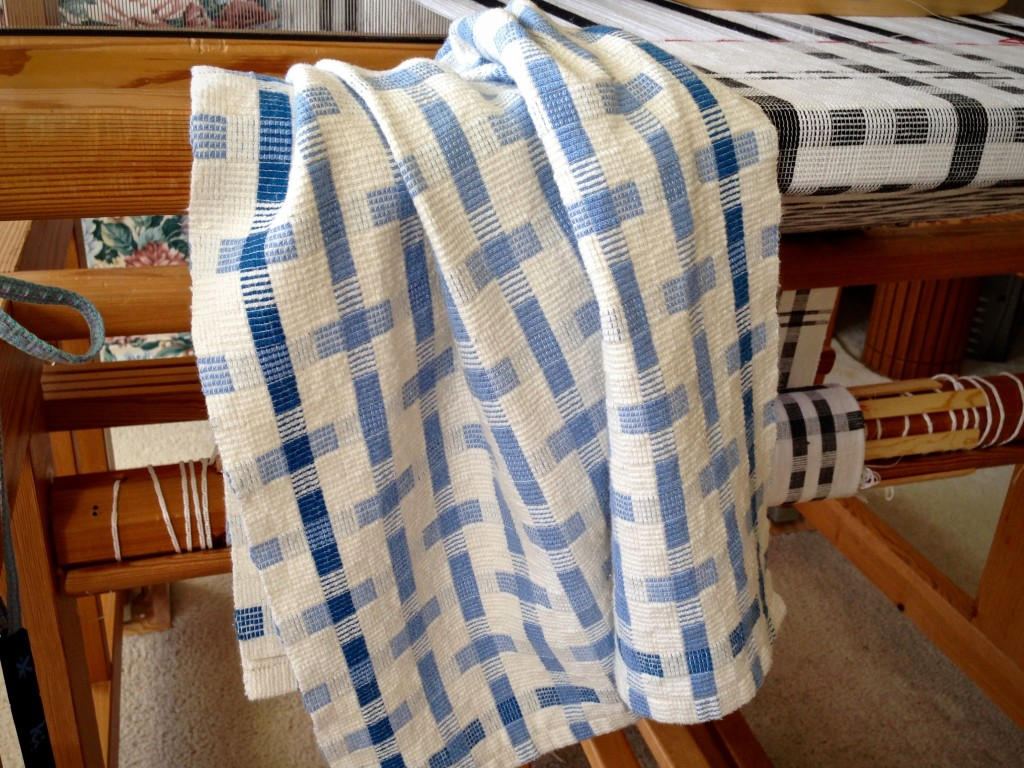 Cotton tea towel, thick and thin. Karen Isenhower