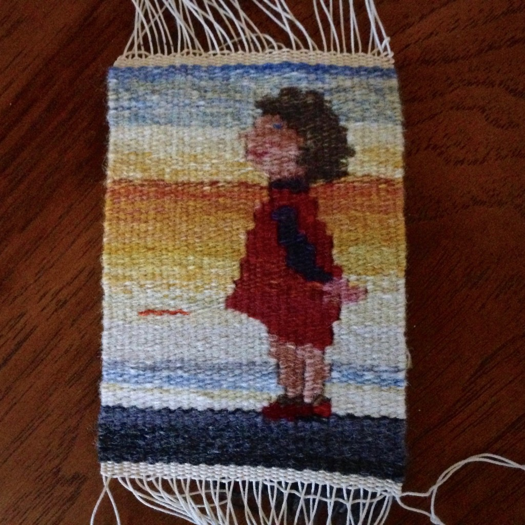 Little girl small tapestry.
