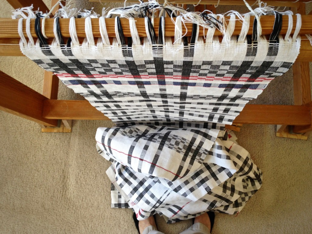 Towels galore just coming off the loom!