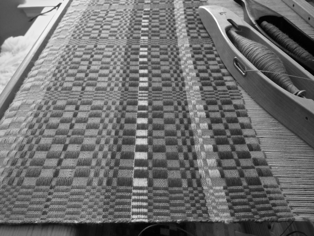 Monksbelt on the loom.