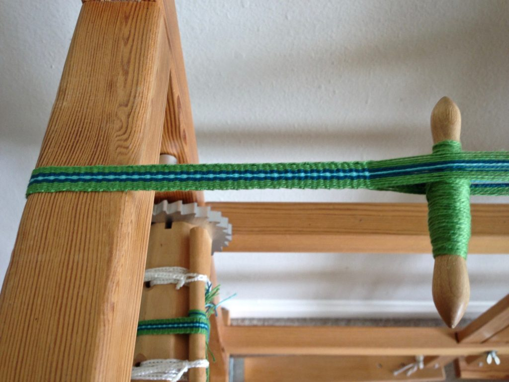 Glimakra band loom weaving. Karen Isenhower