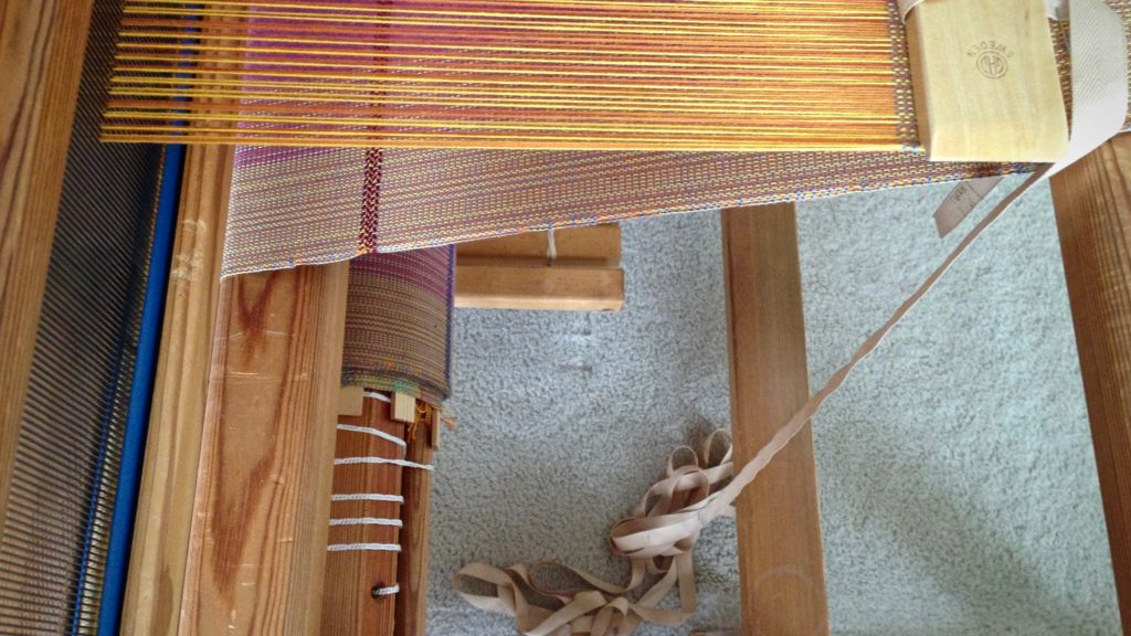 Twill tape for measuring on the loom. Almost at the end!