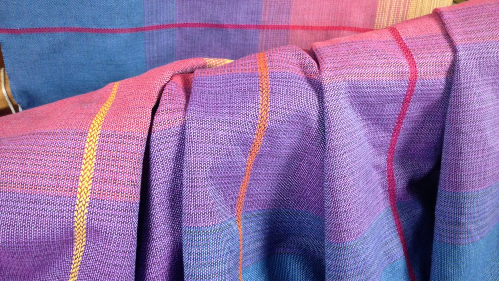 Woven baby wrap just off the loom!