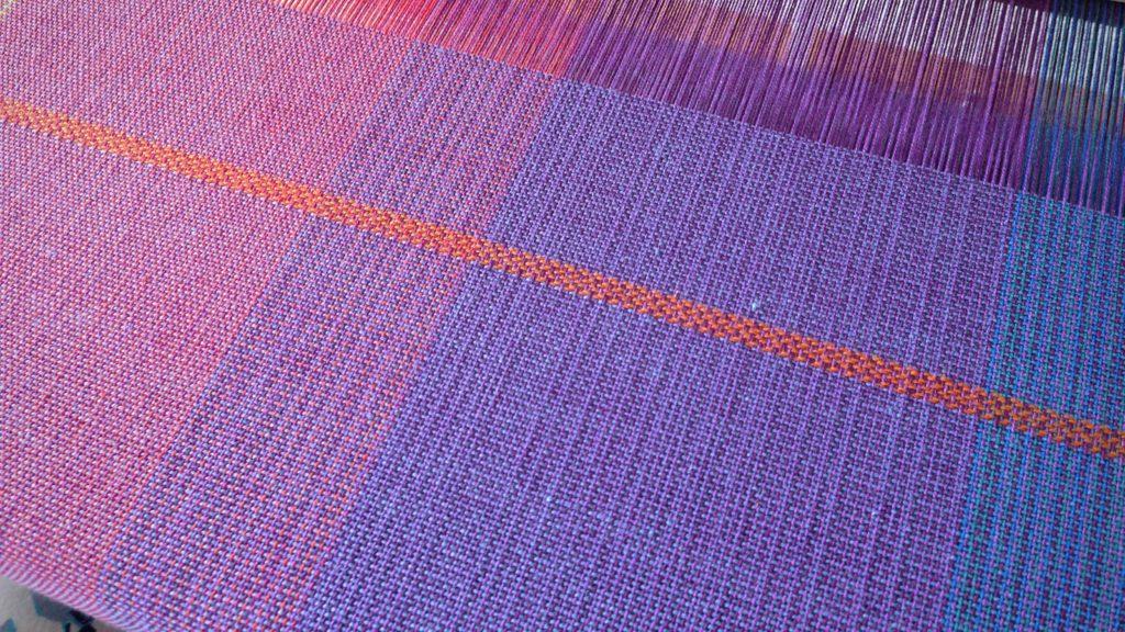 Broken twill stripe. Woven baby wrap.