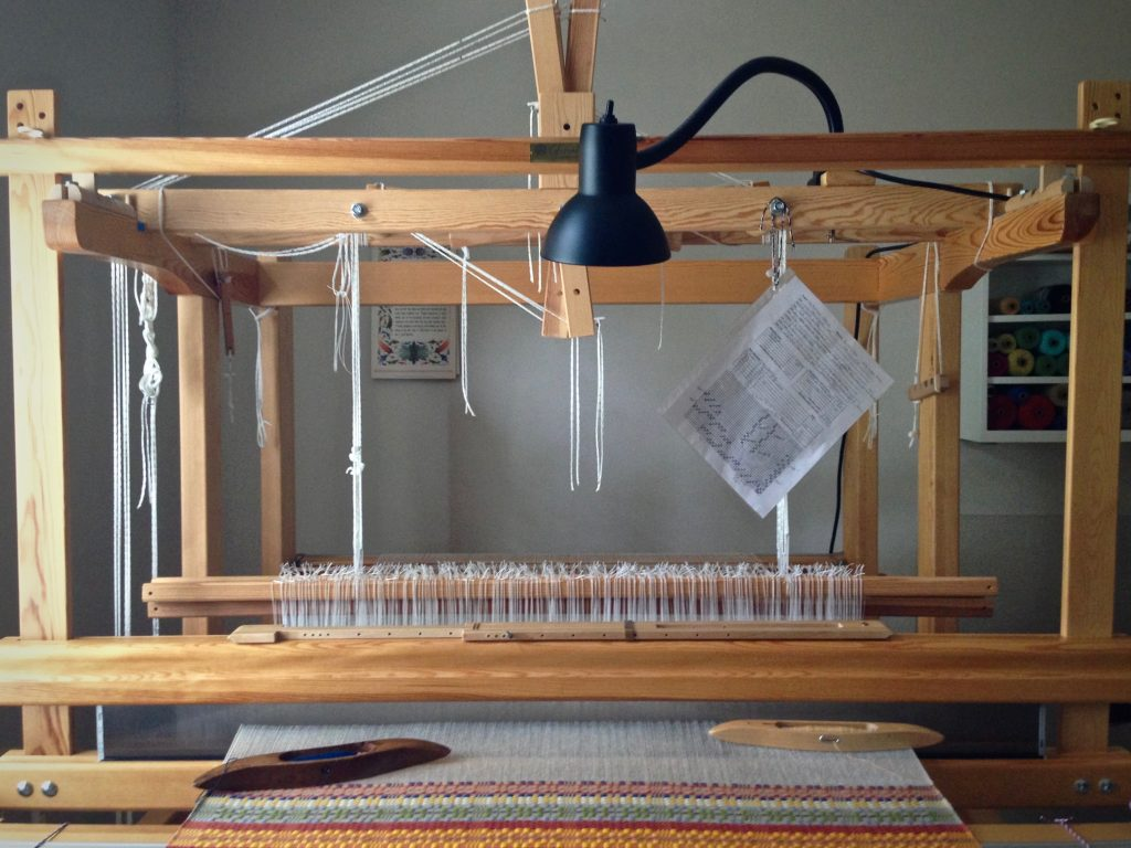 Monksbelt on the Glimakra Standard loom. Well lit.
