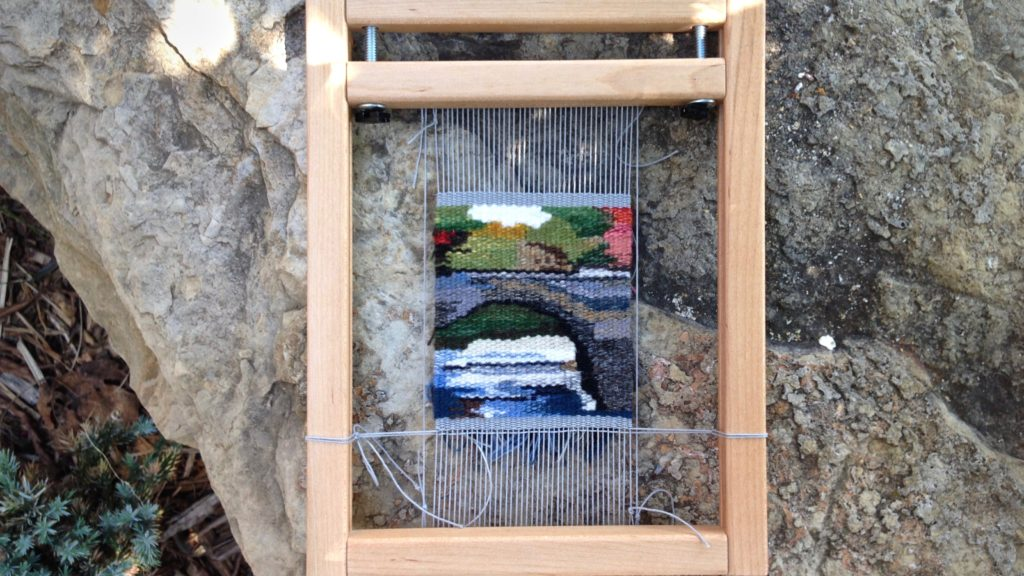 Small tapestry Bridge, finishing touches.