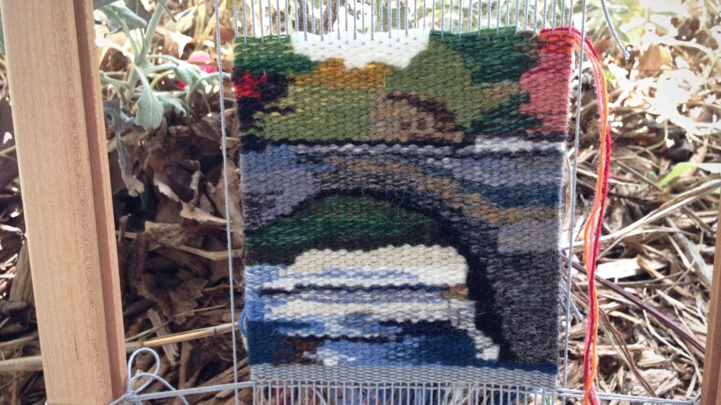 Small tapestry - bridge nearing completion.