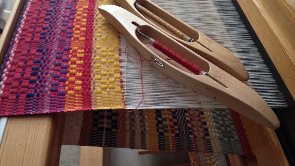 Monksbelt on the loom. Progress!