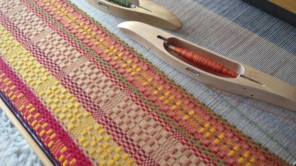 Monksbelt on the loom. Karen Isenhower