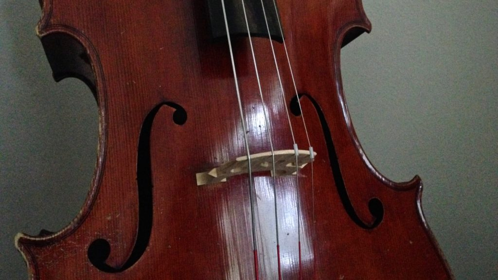 New strings on the old German cello.
