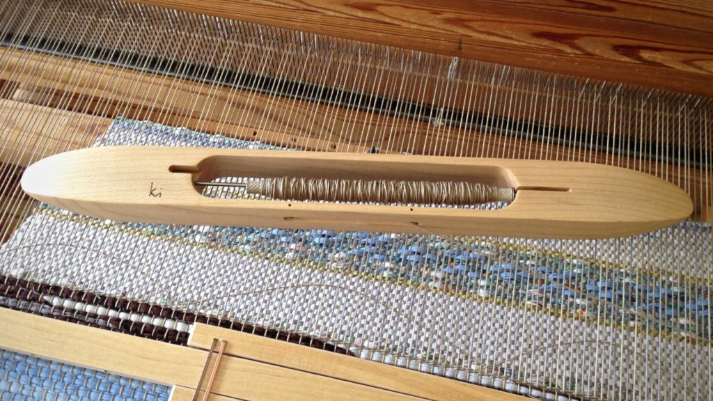 Weaving header for rag rug. How to.