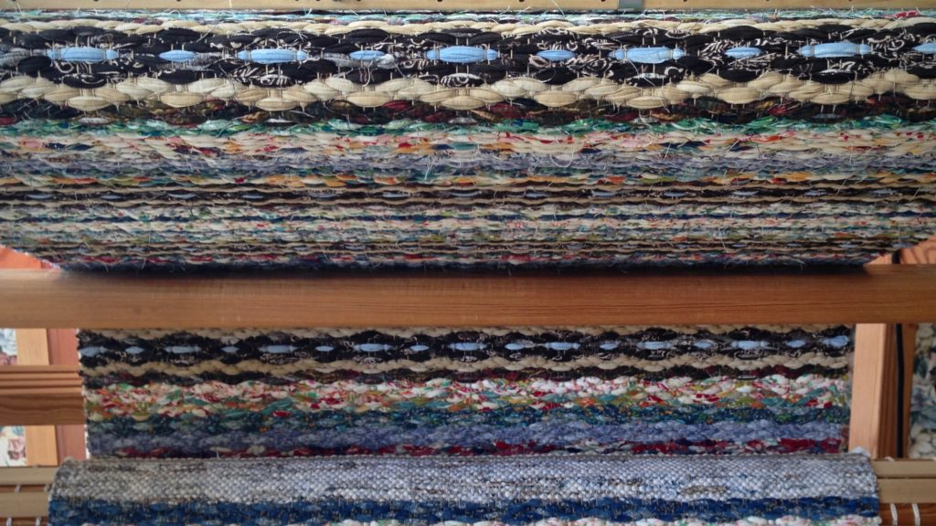 Rosepath rag rug almost complete!