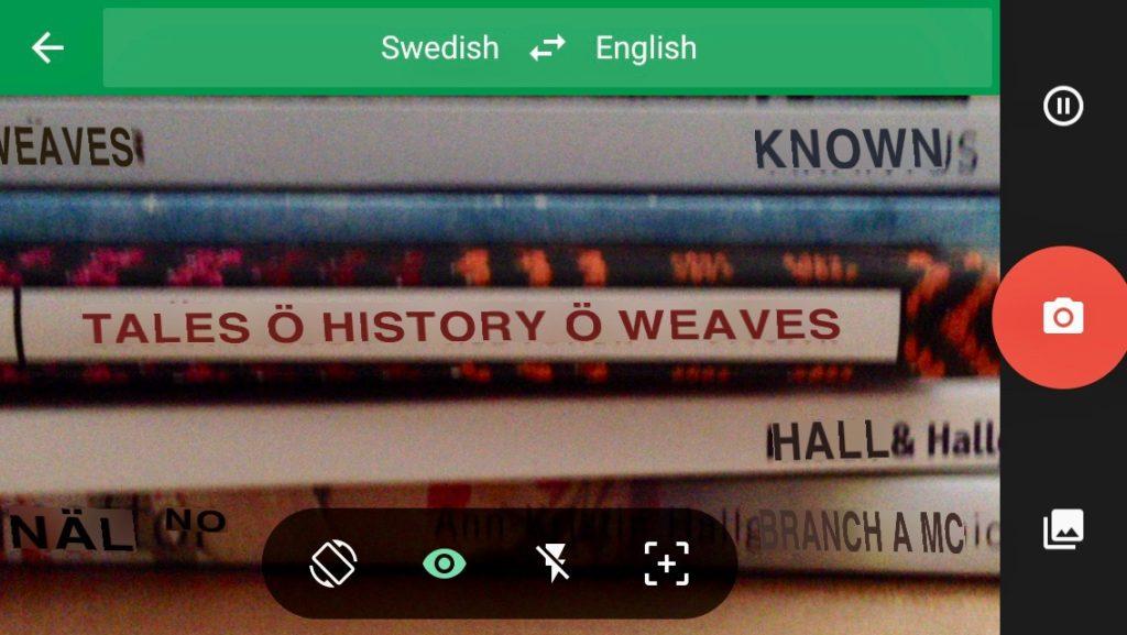 Using Google Translate to read Swedish weaving books.