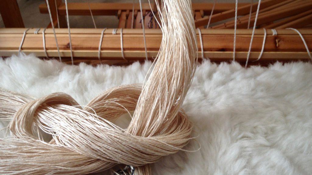 Linen warp chain.