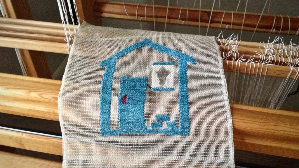 Cartoon house just off the loom!