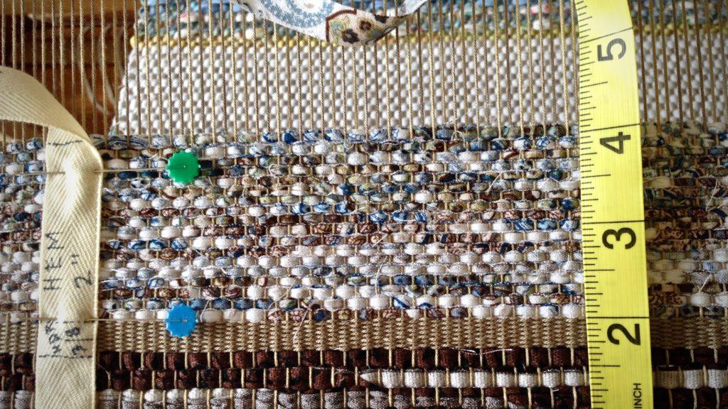 Beginning a rag rug.