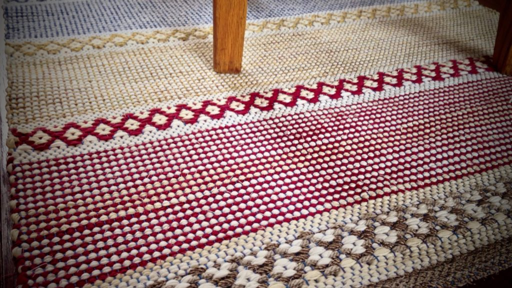 Rosepath rag rug.