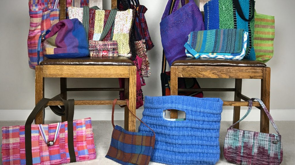 Handwoven handbags - with 1 minute video.