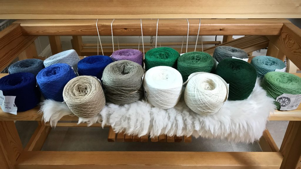 Mora wool. Getting ready for woven transparency!
